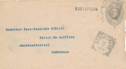 Nederlands Indië - 1901 - 12,5 Cent Willem III, Envelop G7 Van L MARTAPOERA Via Bandjermasin Naar Soerabaja - India Holandeses