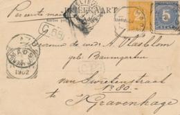 Nederlands Indië - 1902 - 5 & 2,5 Cent Cijfer Op Ansicht Van VK MAOS Via Weltevreden Naar Den Haag / Nederland - Indes Néerlandaises