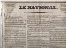 LE NATIONAL 16 01 1831 - BELGIQUE  CONGRES CHOIX ROI DES BELGES LOUIS PHILIPPE ? - KREUTZER - LAFAYETTE BELGIQUE POLOGNE - Zeitungen