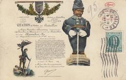 BRUXELLES: Manneken-Pis - Citation à L'Ordre Du Bataillon - Personnages Célèbres
