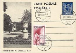 Luxembourg  -  Carte Postale - Postkarte -  30.09.1940 - Mondorf-les-Bains - Entiers Postaux