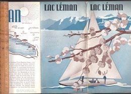 Dépliant Touristique Tourist Booklet : Le LAC LEMAN - Reiseprospekte