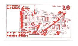 3 - BILLET 10 Francs - CIN BREST - CENTRE D'INSTRUCTION NAVAL - ECOLE DES MOUSSES  - - Specimen