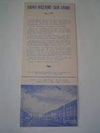 DEPLIANT TOURISME 1959 : SAINT NAZAIRE SUR LOIRE - Reiseprospekte