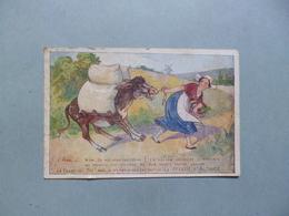 Carte Publicitaire  LA POTASSE D'ALSACE  -  Illustrateur Signé à Déchiffrer  - - Pubblicitari
