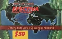 DOMINICAINE  -  Prepaid  -  TRICOM EFECTIVA  - $30 - Dominicana
