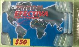 DOMINICAINE  -  Prepaid  -  TRICOM EFECTIVA  - $50 - Dominicana