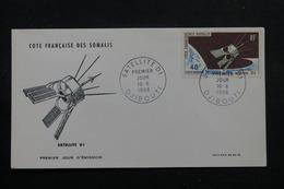 CÔTE DES SOMALIS - Enveloppe FDC En 1966, Satellite - L 56085 - Côte Française Des Somalis (1894-1967)
