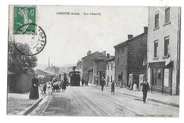 42  - CPA  De  LORETTE  -  Arrivée  Du  TRAIN  Rue  D ' Assailly  (  Très  Très  Animée ) - Autres Communes