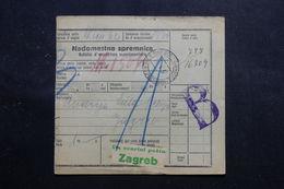 CROATIE - Bulletin D'expédition Pour Zagreb En 1937, Oblitération De Maribor Bureau D'échange, à Voir - L 56095 - Croatie