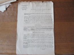 CAMBRAI LE 23 AVRIL 1942 LE SOUS PREFET CONCERNE LES OPERATIONS DE RAMASSAGE ET DE DISTRIBUTION DES PRODUITS LAITIERS - Documents Historiques