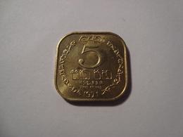 MONNAIE SRI LANKA 5 CENTS 1971 - Sri Lanka
