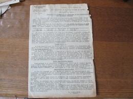 CAMBRAI LE 13 FEVRIER 1942 LE SOUS PREFET J.ONFROY OPERATIONS DE RAMASSAGE ET DE DISTRIBUTION DES PRODUITS LAITIERS - Documents Historiques