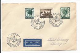 DR /Österreich MiF - 12 Gr + 12 Pf  (DR 646 MiF) Brief 1938 Von Graz N. Hamburg - Briefe U. Dokumente