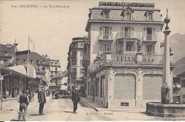 74 CHAMONIX MONT BLANC HOTEL DE FRANCE ET DE L UNION CENTRAL HOTEL HOTEL VICTORIA DANS LE FOND EDITEUR GARDET  N ° 859 - Chamonix-Mont-Blanc