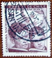 1966 CILE Alfabetizzazione Famiglia Cultura Campaign For Literacy  - 10c Usato - Cile