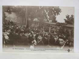 Père Lachaise. Anniversaire De La Commune Au Mur Des Fédérés, 1908. Remise Des Couronnes - Arrondissement: 20