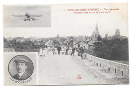 TOULON SUR ARROUX Vue Générale Aviation Des 23 Et 24 JUIN 1912 - Autres Communes