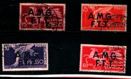 93437) ITALIA.- Trieste AMG-FTT-Democratica, Soprastampa Su Due Linee - ESPRESSI - 1947-USATI - 7. Trieste