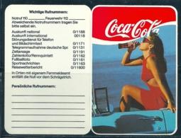 1989 Pocket Poche Calendar Calandrier Calendario Refrigerantes Boissons Soft Drinks Coca-cola Coke - Calendars