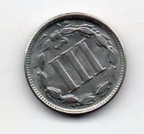 USA : 3 Cents 1868 - Émissions Fédérales