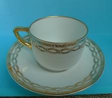 VTG Pottery Hutschenreuther LHS Selb Lidkoping Alp Porcelain Cup Saucer 2 Marks - Ceramics & Pottery