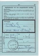 MIDDELBURG 9992 : Sterstempel/relais Op/sur Afgiftebewijs/récépissé 201 - Marcofilia