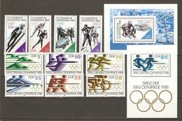 Allemagne DDR 1988 - Jeux Olympiques De Séoul Et Calgary - 2 Séries Complètes MNH - Kilowaar (max. 999 Zegels)