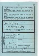 MUNTE 9242: Sterstempel/relais Op/sur Afgiftebewijs/récépissé 201 - Marcofilia