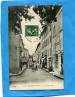 SOLLIES PONT-La Grande Rue-animée -beau Plan- -a Voyagé En 1912-édit E L D - Sollies Pont