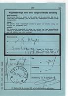 VINDERHOUTE : Sterstempel/relais Op/sur Afgiftebewijs/récépissé 201 - Marcofilia
