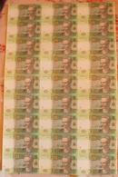Ukraine - Uncut Sheets 20 Hryven 27 Banknotes 2016 / 2017 UNC Gontareva Lemberg-Zp - Oekraïne