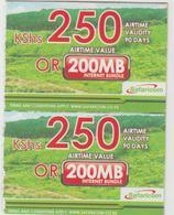 KENYA - 250 Airtime Or 200MB (Half Size), Safaricom Card , Expiry Date:09/12/2016, Used - Kenya