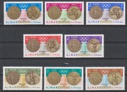 Olympics 1968 - Fencing - Cycling - AJMAN - Set 8v Perf. Ovp MNH - Zomer 1968: Mexico-City
