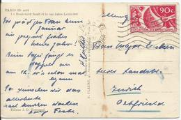 1936 - N° 326 Oblitéré (o) - SEUL Sur Carte PARIS Vers ZURICH - Lettres & Documents