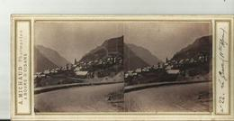 Rare Carte Photo Stereo  La Grave - Otros Municipios