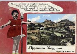 Appennino Reggiano - Vallata Di Bismantova - Formato Grande Viaggiata Mancante Di Affrancatura – E 15 - Reggio Nell'Emilia