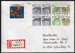 Germany Berlin 24.12.1991 / Castles, Glucksburg, Inzlingen, Wilhelmsthal / Alfred Wegener - Cartas