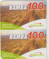 KENYA - BAMBA 100 Mountain View (Half Size), Safaricom Card , Expiry Date:01/12/2013, Used - Kenia