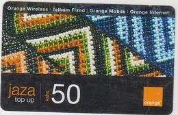 KENYA - Textile 50, Jaza Top Up Orange Card , Expiry Date:24/11/2012, 50 Ksh Used - Kenya