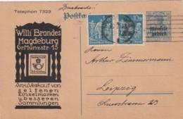 Deutsches Reich Memel Postkarte Privat 1923 - Memelgebiet