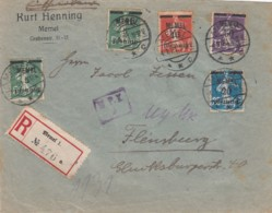 Deutsches Reich Memel R Brief 1921 - Klaïpeda
