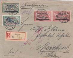 Deutsches Reich Memel Flugpost R Brief 1922 - Klaïpeda
