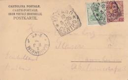 Italien Postkarte 1905 Misch Frankerung - Italia