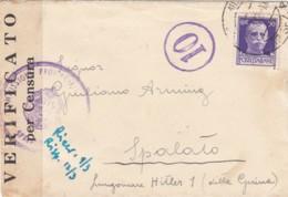 Italien Feldpost /  Zensur Brief 1940-45 - Zonder Classificatie