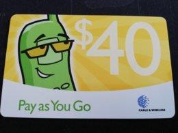 ANTIGUA  $ 40,- PAY AS YOU GO YELLOW    Prepaid      Fine Used Card  ** 489 ** - Antigua And Barbuda