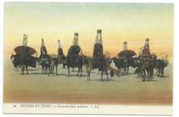 CPA ALGERIE / CARAVANE DANS LE DESERT / NEUVE - Scenes