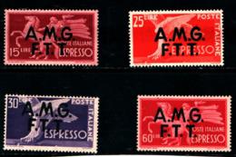 93438) ITALIA.- Trieste AMG-FTT-Democratica, Soprastampa Su Due Linee - ESPRESSI - 1947-MNH** - 7. Trieste
