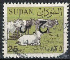 Soudan 1991 Oblitéré Used Cows Cattle Vaches Bétail Surchargé - Soudan (1954-...)