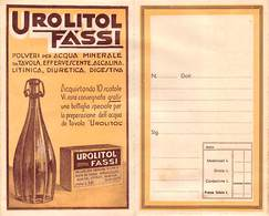 """09019 """"UROLITOL FASSI / PASTIGLIE PETTORALI FASSI - IST. CHIMICO FARMAC. FASSI - MILANO"""" PORTFOLIO ORIG. PER MEDICINALI - Unclassified"""